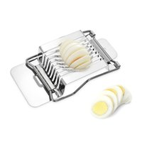 Wholesale egg slicer cutter for sale - Group buy H1857 Kitchen Stainless Steel Egg Slicer Wire Egg Cheeses Chopper Dicer Cutter Tool for Salads Sandwiches Acero Inoxidable Cortador Huevos