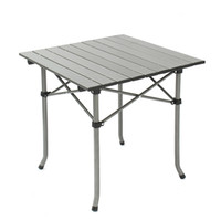 Wholesale Aluminum frame and MDF tabletop metal folding table chairs for camping picnic BBQ prep with Folding Table Chair Stools Set