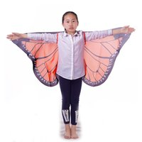 asas alaranjadas da borboleta venda por atacado-Asas de monarca laranja cosplay conjunto com máscara favor de partido custome feriado presente borboleta terno para unisex-criança