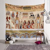 antik dekor toptan satış-Antik Mısır dekor retro etnik duvar asılı halı dekoratif goblen çadır ofis mural show piece ev ofis için