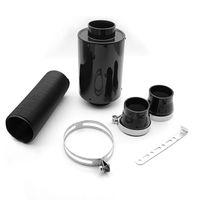 filtros de ar de corrida venda por atacado-Universal Corrente De Ar Caixa De Filtro De Fibra De Carbono Kit de Indução de Alimentação Fria Kit de Admissão de Ar Sem Ventilador AF-CA01