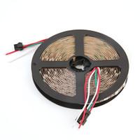 tira led de promoção venda por atacado-Decoração das luzes feericamente da corda da tira 5M 300LED do diodo emissor de luz de 5V 5050WS2812 RGB com placa