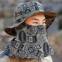 Wholesale recreational sports - Sports Visor Caps Men Outdoor Recreational Bucket Hats Leisure Camouflage Sun Military Tactical Full Protective Caps Sale 11 7lh aa