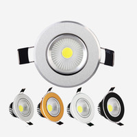 Wholesale led downlights black - Newest Dimmable Led Downlights 9W 12W 15W COB Led Down Light Recessed Ceiling Light (Silver White Golden Black) AC 85-265V + CE ROHS UL