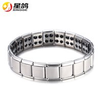 Wholesale Men Magnetic Bracelet Sale - Hot Sale Energy Magnetic Health Bracelet for Women Men health Style Plated Silver Stainless Steel Bracelets Gifts Fashion Jewelry Wholesale