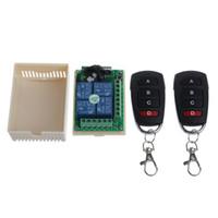 télécommande 4ch rf achat en gros de-12V 4CH Canal Relais sans fil Télécommande RF Commutateur 2 Émetteur + Récepteur