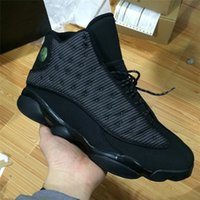 Wholesale Reflect Free - 2017 Retro 13 OG Black Cat Basketball Shoes 3M Reflect For Men Sports Training Sneakers High Quality Free Shipping