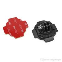 camaras rotativas al por mayor-Accesorios de cámara de acción 360 ° Rotating Helmet Mount Adecuado para Hero6 / 5/43 + / 3/2 / 1sj4000 Universal