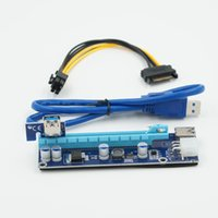 Wholesale Usb Sata Ide - 008C PC PCIe PCI-E PCI Express Riser Card 1x to 16x USB 3.0 Data Cable SATA to 6Pin IDE Molex Power Supply for BTC Miner Machine OTH819