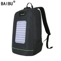 Wholesale Backpack Solar - BAIBU Men Backpack 10W Solar Powered Backpack Usb Charging Anti-Theft Laptop Backpack for women Laptop Bagpack Waterproof Bags