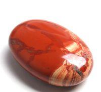 pedra de cura de jade venda por atacado-A palma caiu o vermelho de cristal de quartzo das pedras que cura o peso de papel liso da gema da forma do sabão