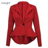 bir düğme uygun toptan satış-Moda kadın Bir Düğme İnce Rahat Iş Blazer Takım Ceket Kaban Dış Giyim Y3