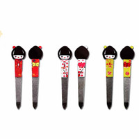 Wholesale doll nail for sale - Group buy Mtssii Cute Japanese Doll Stainless Steel Double sided Nail Filer Buffer Manicure Nail Professional Manicure Art Tool