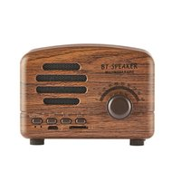 Wholesale bluetooth audio interface resale online - HiFi Retro Wireless Bluetooth Speakers Radio BT01 New Retro Cute Mini Bass With TF Card Interface Bluetooth V4 Speaker Innovative GifHiFi