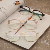 Wholesale fake glasses frames - Fashion New Glasses Frame Women Men Eyeglasses Optical Glasses Frame Vintage Eyeglass Frames Female Fake Clear Glasses