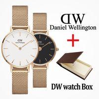 d marka saatler toptan satış-2019 En lüks Daniel kadın erkek Wellington moda dw Severler kadınlar çelik mesh altın erkek marka saatler montre femme relojes