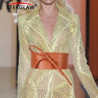 d4003af791 2018 New Black White Wide Corset Lace Belt femminile Self Cravatta cinghie  Cinture per le donne Abito da sposa Fascia vita 8.5 * 220CM N163