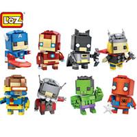 Wholesale minions gifts for sale - Loz Diamond Mini Blocks Minion DIY Bricks Figure Kids Toys Gifts d puzzled Avengers Building Bricks Toys