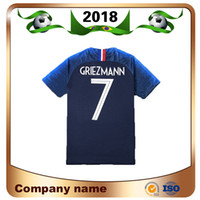 Wholesale clothing for home - 2018 Limited New Short World Cup Soccer Jersey Fran Home 7 Griezmann Mbappe Shirts National Team 9 for Giroud 6 Pogba Football Clothes Sale