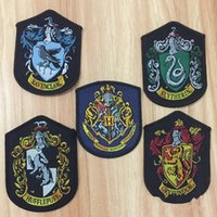 Wholesale cosplay stitch online - Cosplay Harry Potter Shcool Patches Sew On Gryffindor Slytherin Ravenclaw Hufflepuff Patches For Coat Jacket sz gg