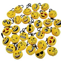 Wholesale free lanyard keychain for sale - Group buy Emoji Keychain cm Mini Cute Plush Pillows Key Chain Decorations Kids Party Supplies Favors