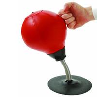 ingrosso aspirazione della sfera-Dropshipping Nuovo Desktop Punzonatura Speed Ball Heavy Duty pressione di pressione Alleviare lo stress Boxe Bag Anti-ansia Giocattoli Sport Strumenti
