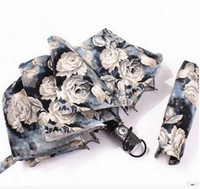 Wholesale flower news - 2017 NEWS Fully Automatic Peony Flower 3D Digital Ink Painting Wind Umbrella HOT SALES