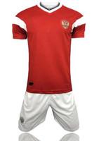camisas de rugby personalizadas venda por atacado-Atacado 2018 rússia home jersey kit copa do mundo russo roupas de qualidade Superior uniformes jersey kit nome personalizado DZAGOEV Rugby Jerseys