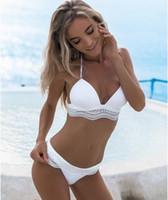 weiße sexy bikiniböden großhandel-Mankini White Bandage Push-Up reine Badebekleidung Frau Triangel Bikini Anzug Badeanzug Baden Beachwear Sexy brasilianischen Boden Hot Pants