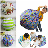 Wholesale food cushion - Storage Bean Bags Beanbag Chair Plush Toys Kids Bedroom Playing Mats Portable Couch Cushions Clothes Storage Tool Organizer 30pcs OOA4334