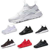 Wholesale cheap sneakers online - 2018 Cheap triple black white huaraches man shoes Sneakers Shoes sports shoes For online sale free shippping size