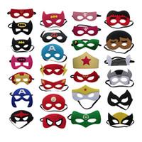 Wholesale Masquerade Masks - Halloween decoration mask Children's Eye Mask Superhero Christmas Cartoon felt mask Masquerade Dance Party masks