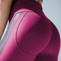 Women High Waist Leggings Push Up Fitness Stretch Leggings Fashion Ladies Workout Black Breathable Mesh Spandex Leggings Plus Size