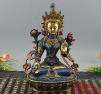 ingrosso affari del buddismo-Collezione d'antiquariato miscellanea Feng Shui ornamenti regali aziendali Buddismo Nepalese Dea Cloisonné Lotus Buddha nuovo