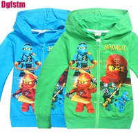 Wholesale boys zip hoodies - 2017 baby Boys Outwear Ninja Ninjago Hoodies Cartoon Costumes Clothes shirts Children's zip Sweatshirts Kids bomber jackets coat