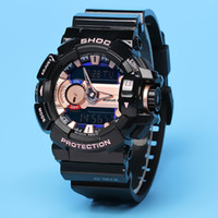 Wholesale led light watches - ga400 autolight waterproof watch, multi-functional automatic lighting, 48 zone time, relogio, box, boy's watch, large dial, free delivery