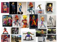 troncos de verduras al por mayor-Dragon Ball Z Vegeta Trunks Son Goku Gohan Celular Frieza PVC Figuras de acción MUESTRA DRAMÁTICA Modelo Toy Doll Figuras
