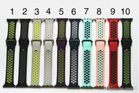 Wholesale silicone wristbands retail - High Quality Silicone Sport Band Strap For Apple Watch 38mm 42mm Smartwatch Wristband Bracelet Watch strap With Retail package free shipping
