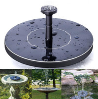 Wholesale water fountains for outdoors - Outdoor Solar Powered Water Fountain Pump Floating Outdoor Bird Bath For Bath Garden Pond Watering Kit OOA5133