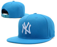 Wholesale ny yellow - 2018 New NY Baseball Caps Hiphop Men Women Adjustable Hats 3D embroidery MLB New York Yankees Snapback Cap Headware