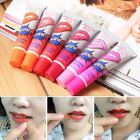 Wholesale lip tatoo wholesale online - matte lipstick liquid lip tatoo pintalabios wow labiales peel off style my baby lips tint pack long lasting