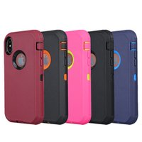 Wholesale Iphone Swivel Cases - For iPhone X Case 3in1 Defender Case High Impact Hard Rugged Phone Case with Swivel Belt Clip Cases for iPhone X