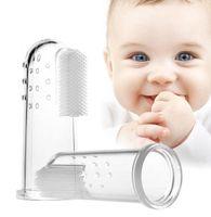 bebek diş fırçaları toptan satış-Diş Yumuşak Kauçuk Fırça Silikon Parmak Diş Fırçası Masaj Bebek Bebek Temizleme Diş Fırçası Eğitim Fırça 1000 adet Için