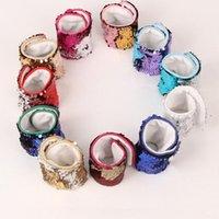 Wholesale Beaded Favors - Mermaid Sequin Bracelet Wristband Cuff Sequins Bracelets Women Charm Jewelry Girl Wedding Favors Mermaid Bracelet Wristband Bangle