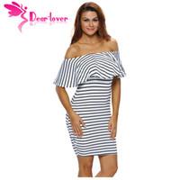 50415cc96 vestido negro rayado blanco barato al por mayor-Estimado Amante vestidos a  rayas Summer Slash