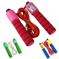 Wholesale children jump rope for sale - Group buy Adjustable Sports Jump Ropes Thicken Foam Handle Counting Skipping Rope Portable Anti Wear Fitness Equipment Hot Sale gr B