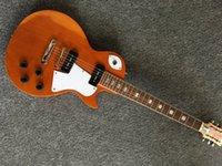 Wholesale One Piece Frets - Factory Solid Maple top Standard LP Electric Guitar One piece Body & Neck,TonePro bridge,Fret edge binding,