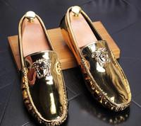 calçado casual de negócios respirável venda por atacado-Frete grátis Novo estilo 3 cores Sapatos Flats de Alta Qualidade Genuína Homens de Couro de Negócios Sapatos Casuais Moda Lantejoulas Respirável Sapatos Masculinos