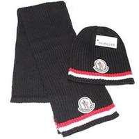 foulards pour homme en gros achat en gros de-Gros-2018 garder au chaud chapeaux foulards foulard chapeau hommes et femmes hiver chaud bonnet de laine livraison gratuite
