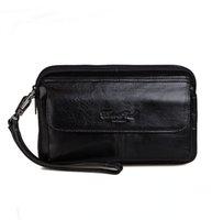 новый наручный телефон оптовых-New Men's Vintage Fashion Business Clutch Wrist Bag  Hand Bag Wallet Pouch phone pocket